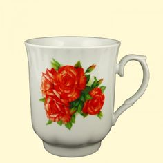 SHOP-PARADISE.COM:  Porzellan Tassen Set 6 St. 0,25 L Motiv Rote Rosen 9,99 €