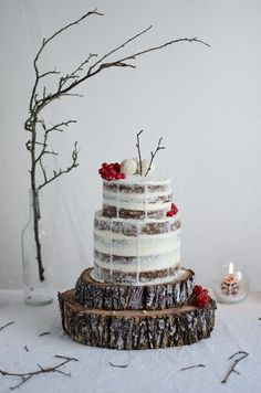 Naked nut cake, carob and tonka with soft eggs and mascarpone