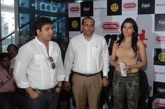 We were obliged with the gracious presence of the trio - Mandar, Shiva and Sherlyn ! August 2010. At Gold's Gym Bandra