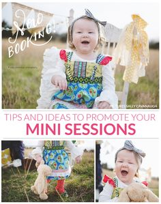 Tips and ideas to promote your mini sessions | Photoshop templates for photographers by Birdesign