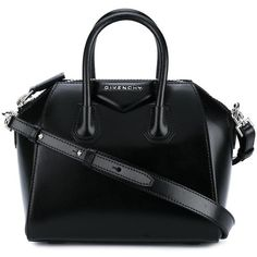 Givenchy mini 'Antigona' tote (7.330 RON) ❤ liked on Polyvore featuring bags, handbags, tote bags, black, givenchy tote, tote purses, leather totes, givenchy tote bag and leather purse