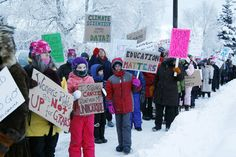 Women's March on Washington sister cities: Fairbanks with temps -15*