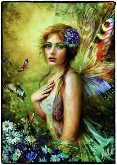 Canvas Artwork by Bente Schlick Beautiful Fantasy Art, Beautiful Fairies, Colouring Pages, Adult Coloring Pages, Coloring Books, Canvas Artwork, Canvas Art Prints, Kobold, Fairy Pictures