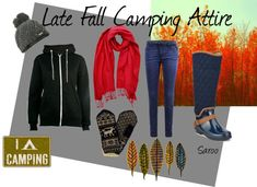 Late Fall camping clothes by saroo on Polyvore. I like pretty much everything except boots and mittens but I can fix that!