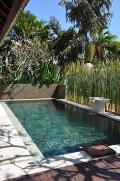 Sunny day to enjoy Private Pool in Villa..  Book your Bali Accomodation with us at www.theroyalsantrian.com email. : reservation@theroyalsantrian.com  Luxury Beach Villa, Tanjung Benoa Bali,Indonesia