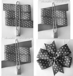 How to make ribbon bow? 8 tips to make a 5 inch hair bow. Diy Hair Bows, Making Hair Bows, Ribbon Hair Bows, Diy Bow, Diy Ribbon, Ribbon Crafts, Diy Flowers, Fabric Flowers, Wedding Chair Bows