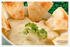 Classic Skordalia - Greek Potato-Garlic Dip: Skordalia is a classic Greek dip or sauce made from mashed potatoes, bread and flavored with garlic - makes a great alternative to hummus.