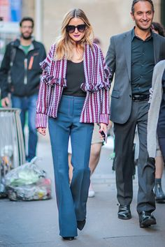 Olivia Palermo is seen outside of the Sonia Rykiel show during Paris Fashion Week Spring Summer 2017 on October 3 2016 in Paris France