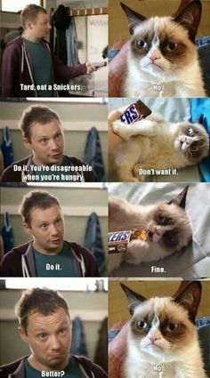 Tard eat a snickers