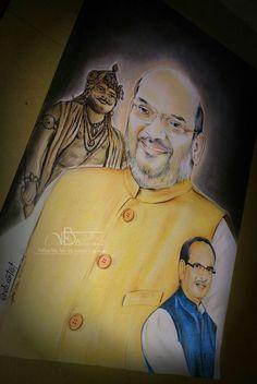 Hope you like it My Art Creativity. Sir Amit shah & Cm Shivraj singh Chouhan sir Portrait By- me @vb_artist   || #sir #AmitShah & #ShivrajSingh ji #Rajabhoj #Sculpture #BJP4India #Bhopal #vb_artist #Art #color_pencil #BJP #BjpLive #Artist ||