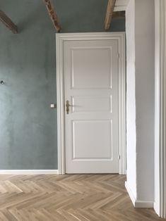 Herringbonefloor, KABE copenhagen wall Home Interior Design, Interior Decorating, Nordic Home, Play Houses, Tall Cabinet Storage, My House, Floors, Diy Home Decor, Sweet Home