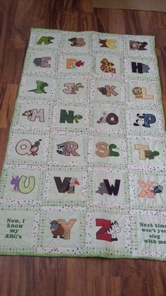 1000 Ideas About Alphabet Quilt On Pinterest Quilts
