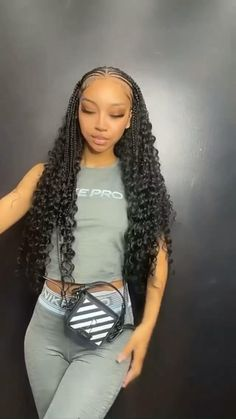 Braided Cornrow Hairstyles, Feed In Braids Hairstyles, Box Braids Hairstyles For Black Women, Braids Hairstyles Pictures, Black Girl Braids, Girls Braids, Braids For Black Hair, Baddie Hairstyles, Hair Pictures