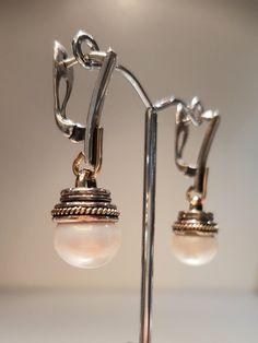 #kolczyki #perła #srebro #złoto #biżuteriaartystyczna #margotstudio
