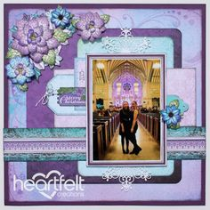 Heartfelt Creations - Poinsettia Layered Layout Project