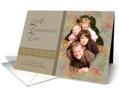 Thanksgiving Fall Colors - Photo Card You Customize card! Easy to add your own photo! #thanksgiving #photocards
