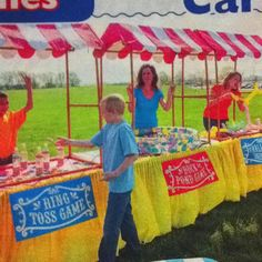 Could totally make this table top tent from PVC pipe and fabric! Love this for carnival party