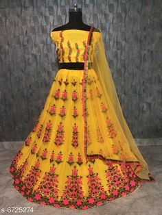Checkout this latest Lehenga Product Name: *Stylish Fancy Women's Lehenga* Topwear Fabric: Silk Bottomwear Fabric: Net Dupatta Fabric: Net Top Print or Pattern Type: Embroidered Bottom Print or Pattern Type: Embroidered Dupatta Print or Pattern Type: Solid Sizes:  Free Size Country of Origin: India Easy Returns Available In Case Of Any Issue   Catalog Rating: ★4.2 (4626)  Catalog Name: Stylish Fancy Women's Lehenga Vol 17 CatalogID_496132 C74-SC1005 Code: 808-6725274-5712
