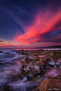 "Colours of Sky "" Pink sunset over Yallingup, Australia. Photo by Paul Pichugin. Beautiful World, Beautiful Places, Beautiful Pictures, Australia Travel, Western Australia, Travel Photographer, Landscape Photographers, Amazing Nature, Beautiful Landscapes"