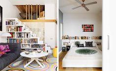 Bookshelf stair, headboard shelf