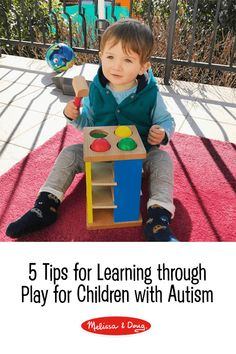 This article discussed how a child's interests can be used as play therapy to help with their mental or physical delays. For example, if they liked trans they could use trains to train their flexibility. Diy Sensory Toys, Sensory Toys For Autism, Sensory Activities, Educational Activities, Free Activities For Kids, Motor Skills Activities, Early Learning, Fun Learning, Melissa & Doug
