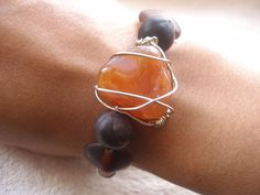 MOTHERS DAY SPECIAL African braceletWire wrapped by Fianaturals, $35.00