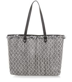 From New Look , Black Straw Diamond Print Fringed Tote Bag is great for the beach or for shopping .. and with trendy fringe hems this bag is amazing for £22.00