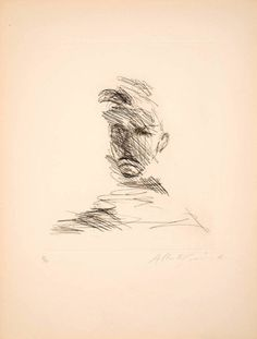 Alberto Giacometti, Portrait of Rimbaud, 1962 Alberto Giacometti, Life Drawing, Painting & Drawing, Gesture Drawing, Art Corner, Art Graphique, Artistic Photography, Food Photography, Gravure