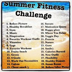 This is the the Summer Fitness Challenge for June. The day of the month is the pic of the day. And there is a fun group going on where we are sharing and supporting one another and you are welcome to jump in anytime! Great way to stay focused on taking care of ourselves, while having fun and enjoying our summer! Click the picture to join us today!