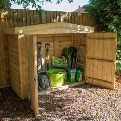 The Hartwood Pressure Treated Overlap Apex Large Outdoor Store is a versatile and spacious wooden storage unit ideal for larger garden equipment or furniture. Featuring large double doors enabling it to be used as a mower store or bike store.