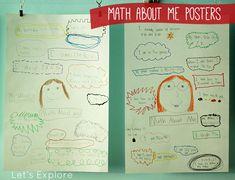 Math About Me Posters   Let's Explore