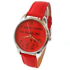 It Doesn't Matter Watch Men and Women Casual Wristwatch Stainless Steel Watches - Wristwatches