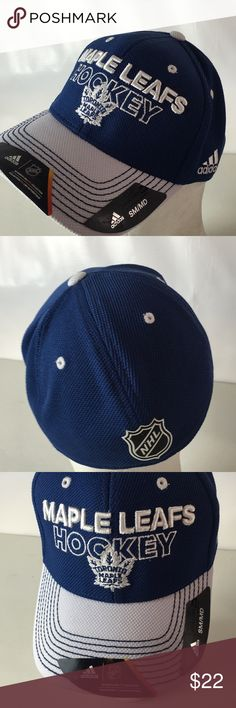 be9cd77a49d Adidas Toronto Maple Leafs Hat NHL Pro Flex S M Brand NEW Spellout Logo NHL