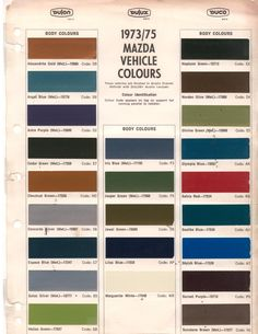 Auto paint codes coe colors for 1952 auto paint colors codes bid for the chance to own a 1977 mazda rotary pickup at auction with bring a trailer the home of the best vintage and classic cars online fandeluxe Choice Image