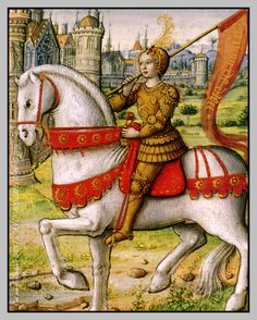 Illustration de Jeanne d'Arc d'après un manuscrit de 1505.