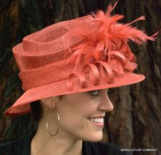 Sinamay tiered straw derby hat