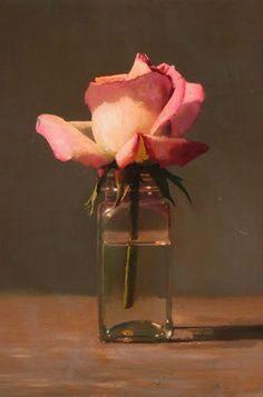 Painting Still Life, Still Life Art, Oil Painting Flowers, Painting & Drawing, Floral Paintings, Still Life Flowers, Flower Oil, Lotus Flower, Flower Canvas