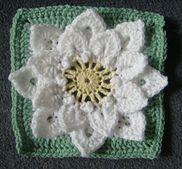 Ravelry: Crocodile Stitch Afghan Block - Dahlia pattern by Joyce Lewis ༺✿Teresa Restegui http://www.pinterest.com/teretegui/✿༻