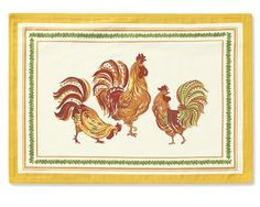 LOVE Williams-Sonoma's Roosters. -> Tuscan Rooster print place mats in ivory