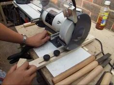 (12) How To Build Sharpening Jig For The Bench Grinder - Woodturning Tools - YouTube