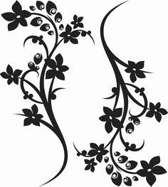 Flower Embroidery Designs, Flower Designs, Cnc Cutting Design, Flower Clipart, Textiles, Bird Art, Small Tattoos, Flower Art, Pattern Design