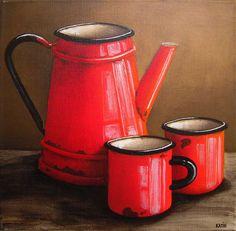Katie Grobler - various ceramics - 300 x 300 artists Still Life Drawing, Painting Still Life, Still Life Art, Kitchen Prints, Kitchen Art, Afrique Art, Still Life Photos, Coffee Art, Painting Inspiration