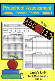 These Preschool Assessment Record Forms are a great tool to keep track and document individual student progress throughout the year. These forms would be appropriate for any early childhood education setting. $