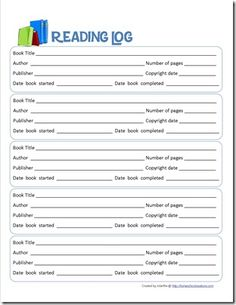 READING LOG DOWNLOAD... Gets them used to finding all the things needed for a bibliography...