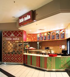 Little India #Little #India #Indian #Takeaway #Shop #Design #Logo #Branding #Gold #Powdercoated #Screen