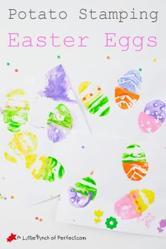 Potato Stamping Easter Eggs Kids Craft