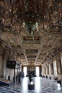 I have walked through these hall and will always remember the huge silver Lions and the Amber Chandeliers, Kronborg (Hamlet's Castle), Denmark