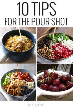 Food Photography: 10 Tips for the Pour Shot | pinchofyum.com