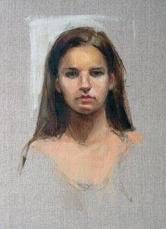 Zoie, oil 20 x 16 on Senso linen