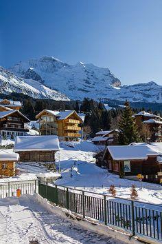 Jungfrau, Swiss Alps: View from Wengen
